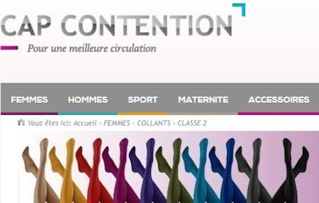 Cap Contention, spécialiste des bas de contention